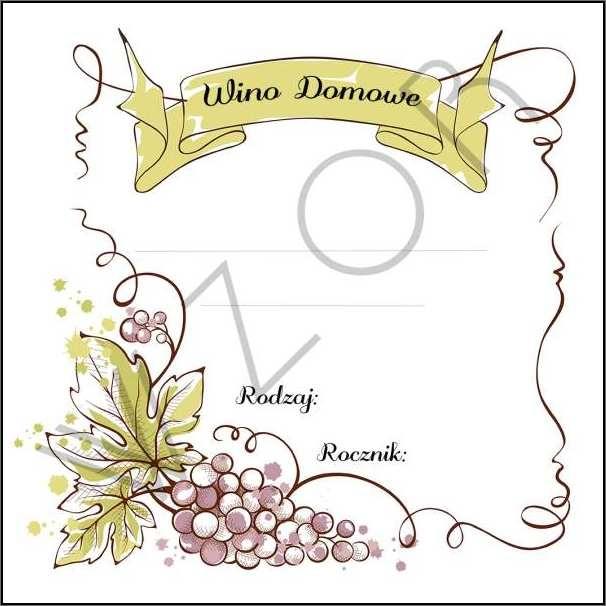 Etykiety Na Wino Domowe Wd04 5szt
