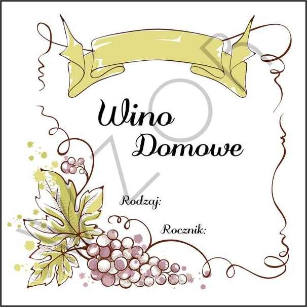 Etykiety Na Wino Domowe Wd03 5szt