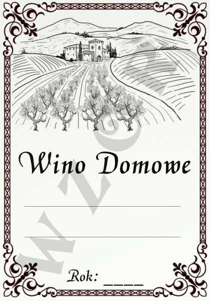 Etykiety Na Wino Domowe Wd10 5szt