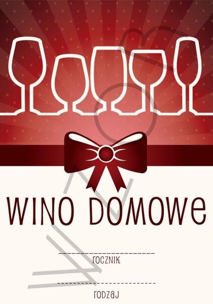 Etykiety Na Wino Domowe Wd09 5szt