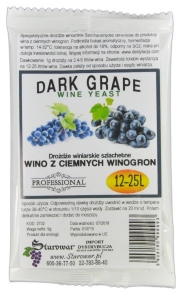 WINE YEAST DARK GRAPE - Drożdże winiarskie do wina z ciemnych winogron
