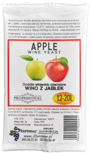 WINE YEAST APPLE - Drożdże winiarskie do wina z jabłek
