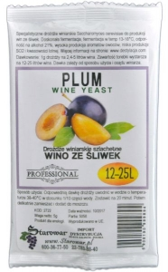 WINE YEAST PLUM - Drożdże winiarskie do wina ze śliwek