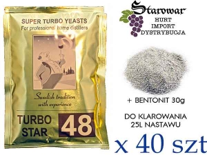 TURBO STAR 48 + BENTONIT 30G / 100SZT