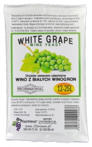 WINE YEAST WHITE GRAPE -  Drożdże winiarskie do wina z białych winogron